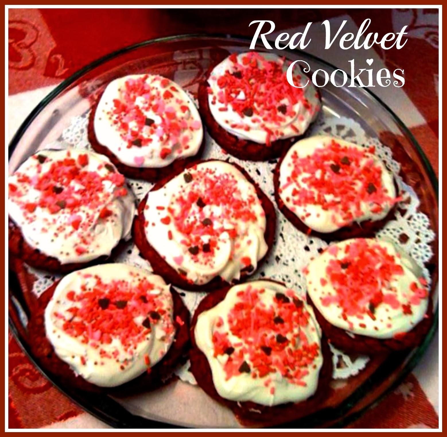 ... Cornbread: Easy Peasy Red Velvet Cookies with Cream Cheese Frosting