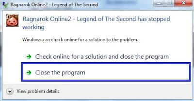 Pesan Error Ragnarok Online 2