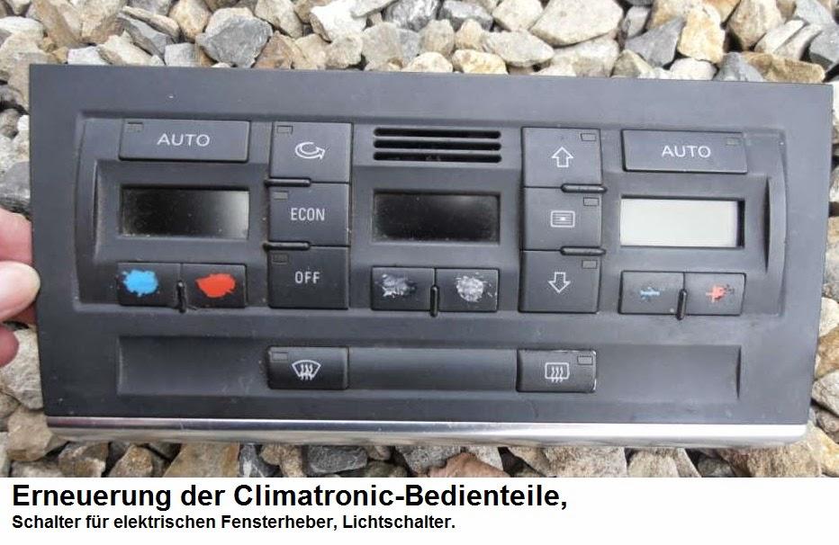 Erneuerung der Climatronic-Bedienteile, Schalter für elektrischen ...