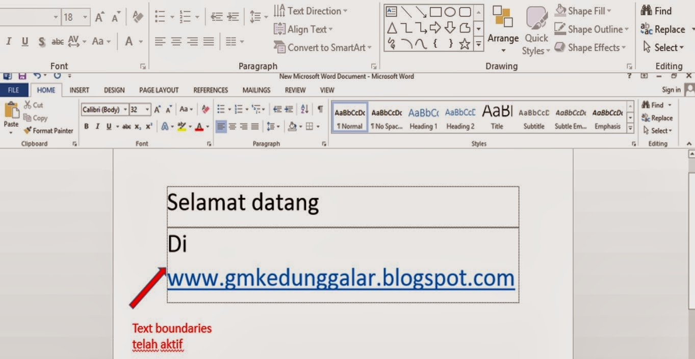 cara membuat margin di microsoft word 2013