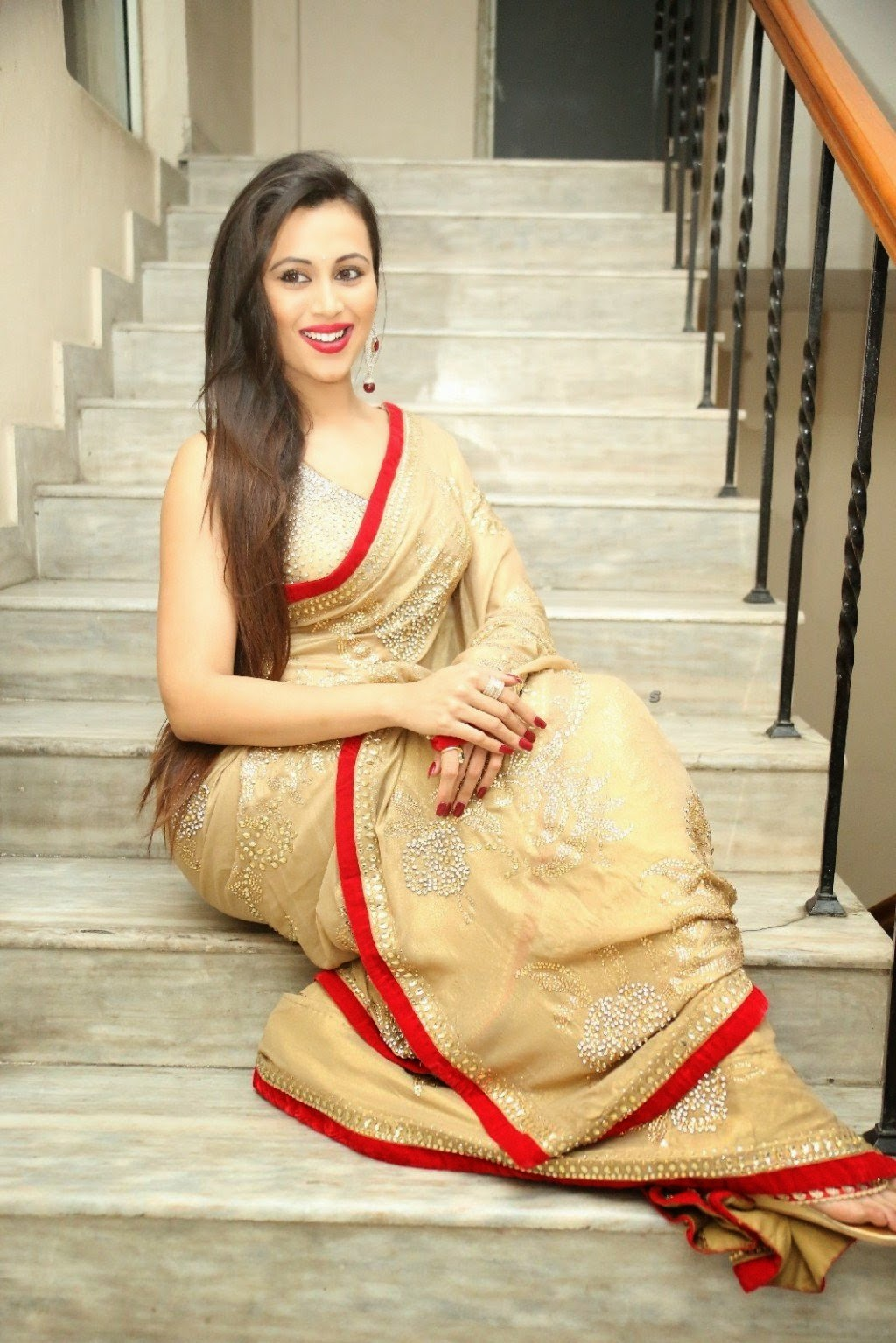 charlotte claire hot transparent saree pics