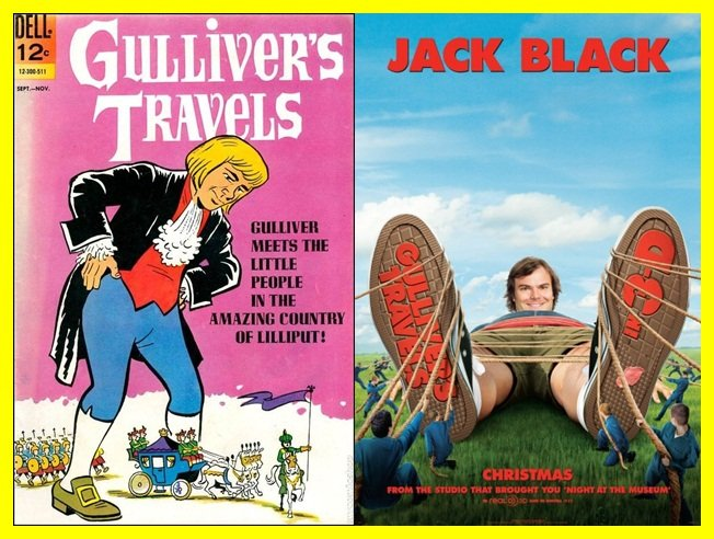 gulliver s travels compare contrast book movie The fourth book of gulliver's travels definitely does associate humanity with a base, carnal nature that is in marked contrast to the reason which is displayed by the houyhnhnms the reason for this is because the houyhnhnms are horses, and, as such, swift pictures the houyhnhnms to be gentle, amiable and reasonable creatures who rule the land.