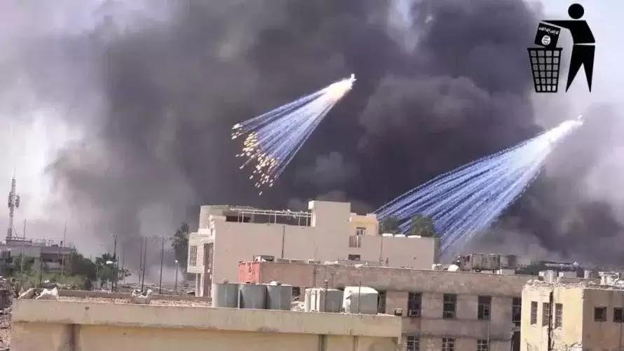 Βομβαρδισμός της Μοσούλης με βόμβες φωσφόρου ( ΒΙΝΤΕΟ)