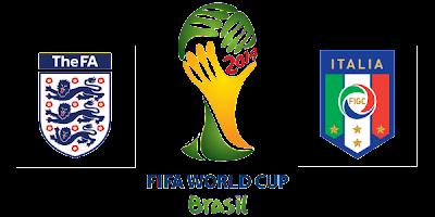 Inggris vs Italia Piala Dunia 2014