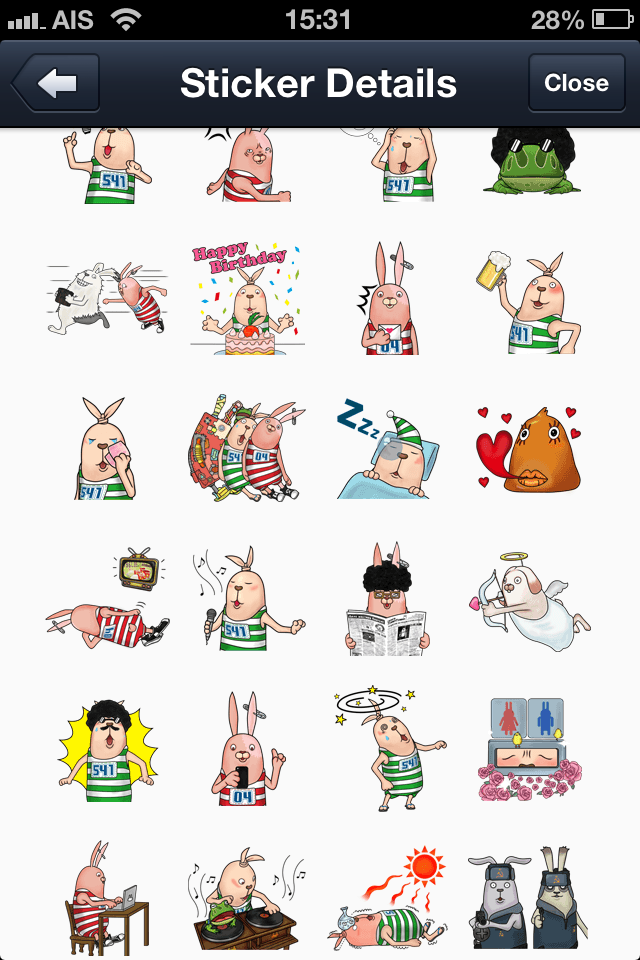USAVICH Time for Stickers 2 line stickers