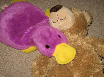 Tanner's favorite stuffed animals