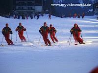 ski show of the ski school in St Johann