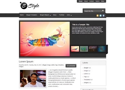 EStyle Blogger Template