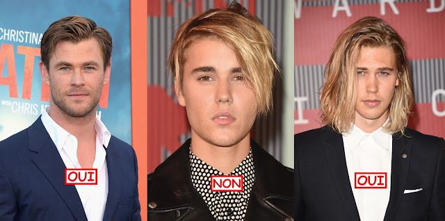 Chris Hemsworth justin bieber austin butler men long hair