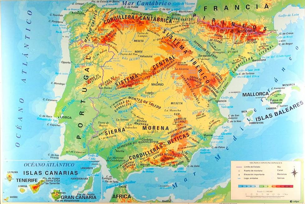 DIARIO DE CLASE Mapa de Espaa