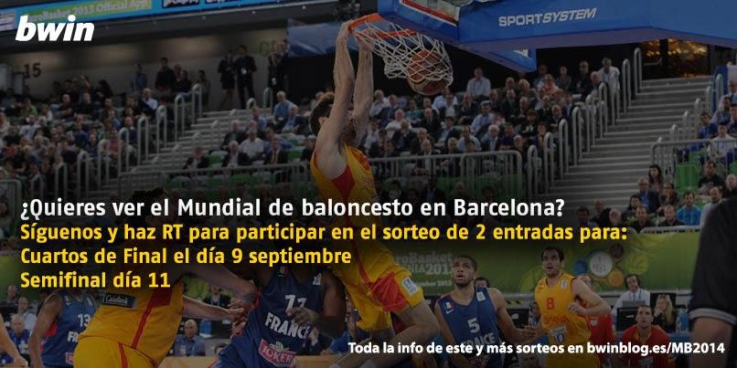 bwin sorteo entradas barcelona mundial baloncesto