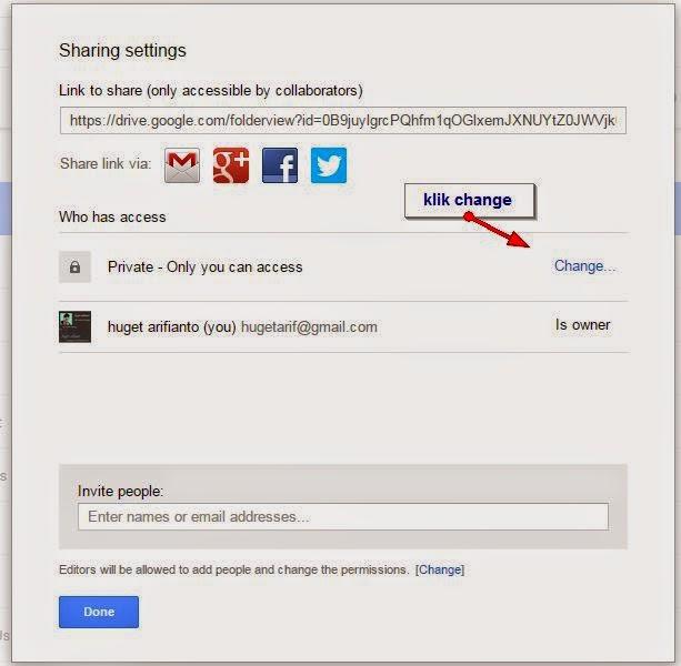 edit mode ke public google drive