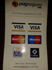 Aceitamos Cartão de Credito