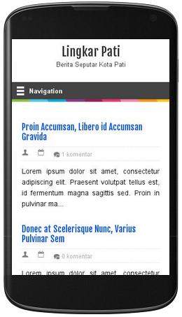 Template Blogspot Premium Gratis Responsive