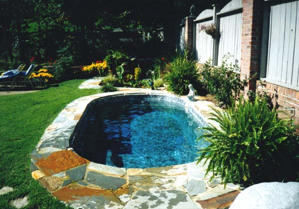 Inground pool designs for small backyards modern diy art for Small pools for small yards
