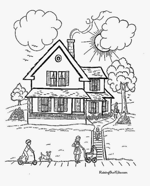 Coloring Pages Of Victorian Houses