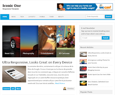 IconicOne Responsive Blogger Template