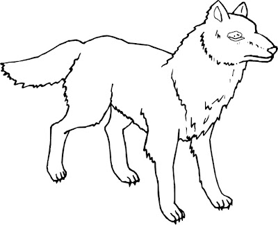 Pictures Of Wolves To Color