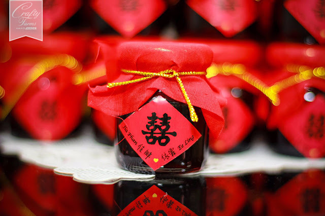 Traditional Chinese Wine Jar inspired wedding favour