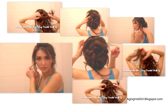 Easy Updos for long hair  in 5 mins - sexy look