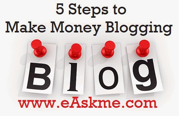 5 Steps to Make Money Blogging : eAskme