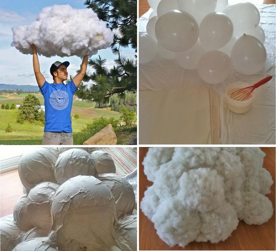 Blog de decorar novembro 2012 for How to make a paper cloud