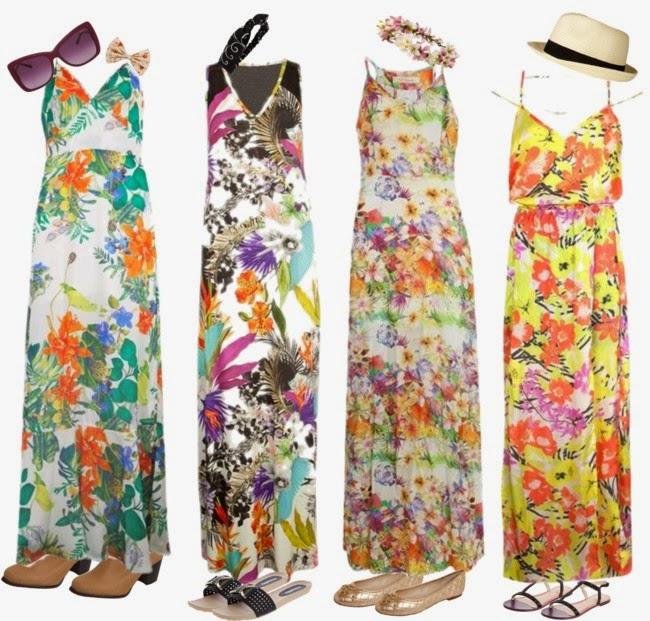 roupas da moda-modelo de vestidos-vestidos-vestidos da moda-vestido estampado-vestido floral-roupas femininas-moda feminina-modaverão-dresses-vestidos longos-long dresses-calçados femininos, coroa de flores-chapeu-headband