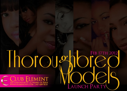 STATEN ISLAND MODEL COMPANY Thoroughbred Models WILL BE HAVING THERE LAUNCH PARTY THIS FRI @ ELEMEN