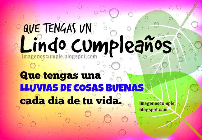 Que tengas un Lindo cumpleaños. Imágenes gratis de cumple para amigos, familia, hermanos, con saludo bonito.