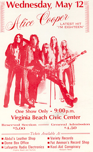 Civic Center, Virginia Beach, Virginia 12th May 1971