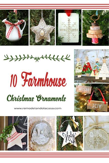 burlap, linen, vintage cards, stars, embroidery hoop, pitcher ornaments