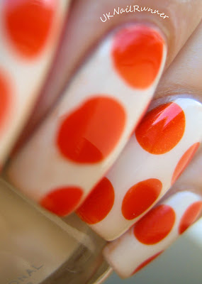Zoya Jacqueline with orange dots
