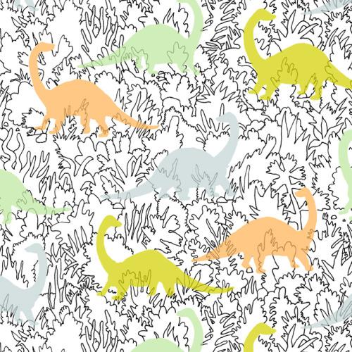 Print pattern designer marie gardeski for Girly dinosaur fabric
