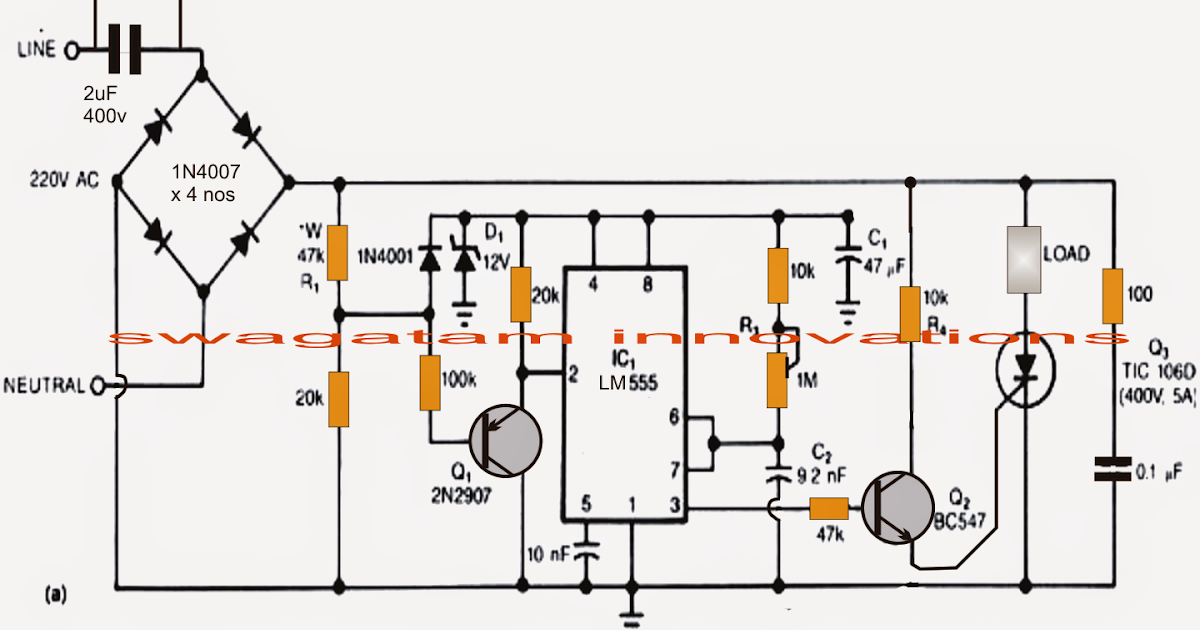 power supply switching circuit with led free electronic