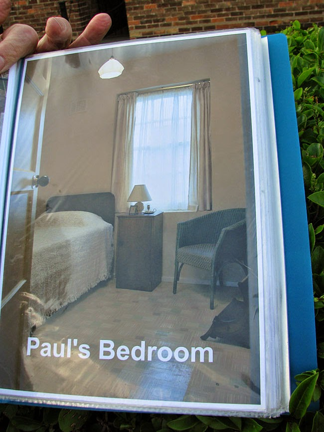 And A Photo Of Pauls Room That Window Is Right Above The Front Door Linoleum On Floor Original To Time In House