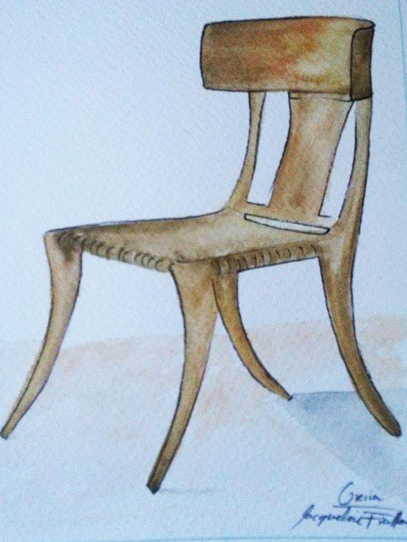 Aquí te dejo un ejemplo dealgunos muebles griegos que yo misma hice