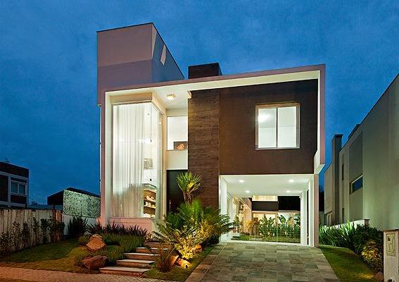 Construindo minha casa clean 30 fachadas de casas for Fachada de casas modernas estilo oriental