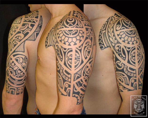 tatouage polynesien polynesian tattoo january 2012. Black Bedroom Furniture Sets. Home Design Ideas
