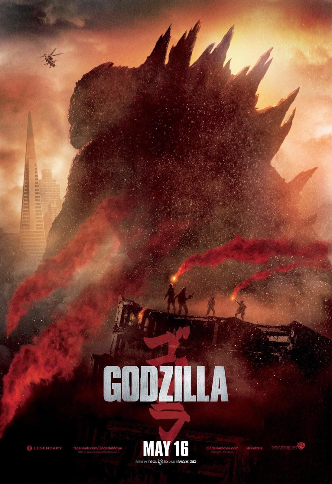 Godzilla recensione poster