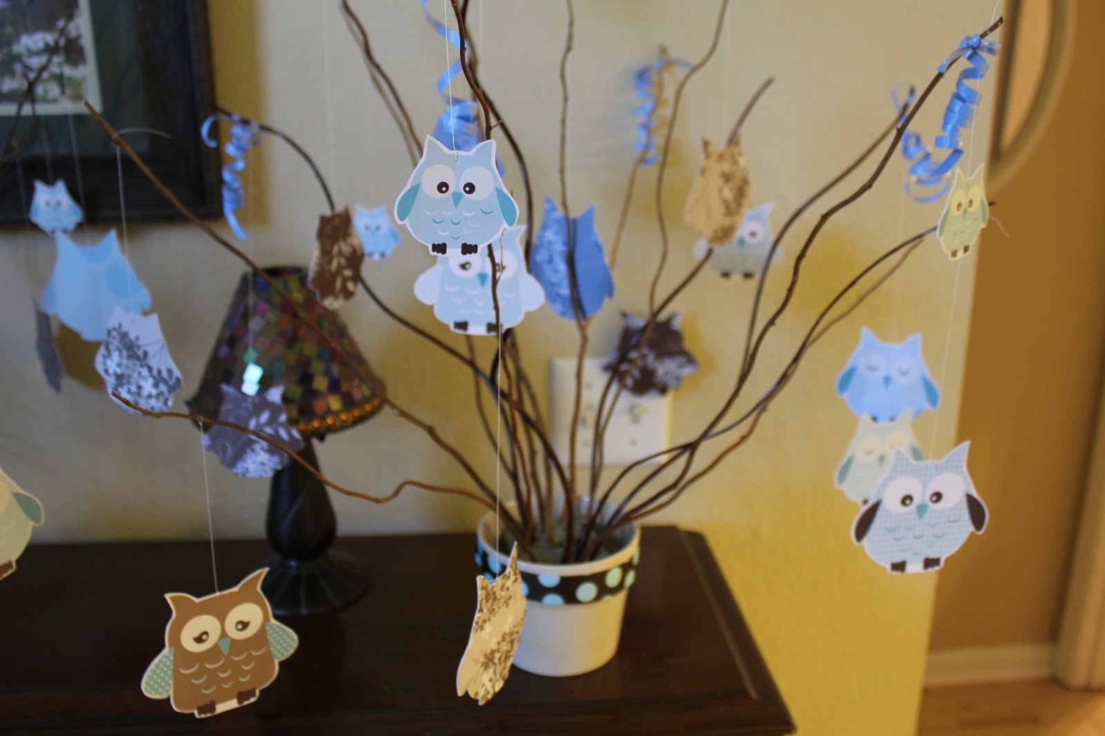 Owl Themed Baby Shower Baby Boy Esther Is Brave