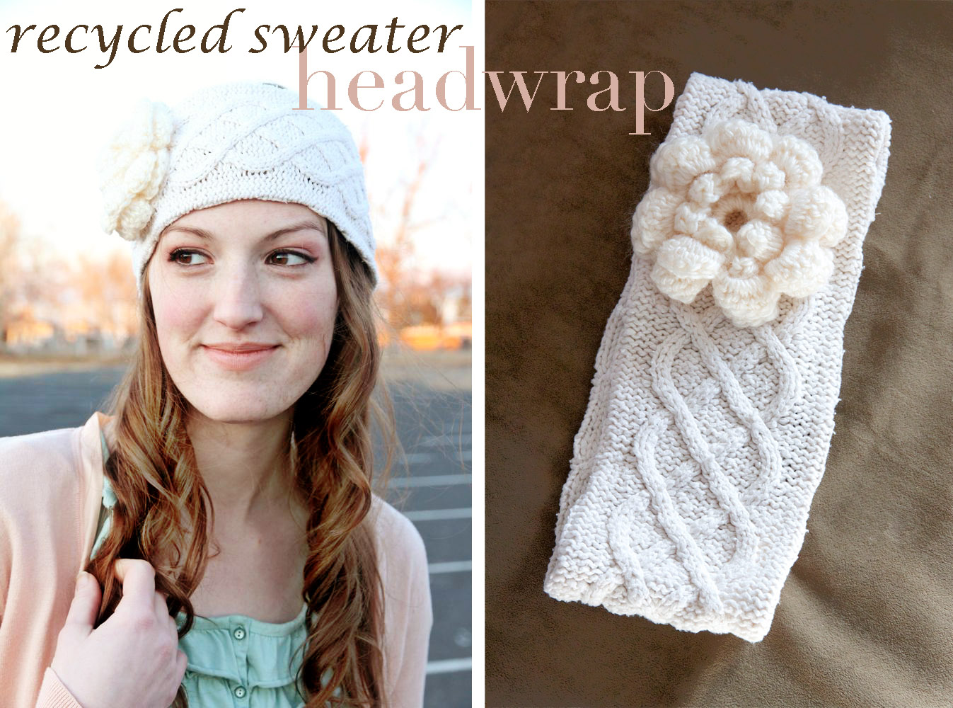 Recycled Sweater Headwrap Tutorial!