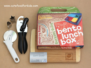 cute food for kids bento lunch kit and visa gift card giveaway. Black Bedroom Furniture Sets. Home Design Ideas