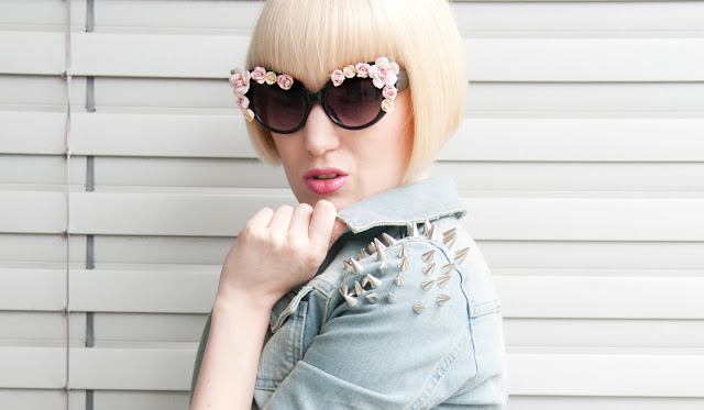 d&g inspired sunglasses with flowers, sunglasses with flowers, d&g, decorated sunglasses