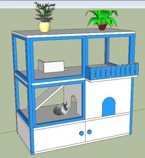 Mis inventos conejera casera chalet - Cosas necesarias para una casa ...