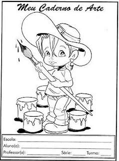 Capas para cadernos infantis escolares - Trabalhos Projetos etc...