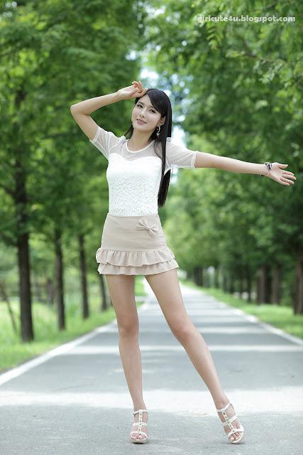 7 Cha Sun Hwa-Ruffle Mini Dress-very cute asian girl-girlcute4u.blogspot.com