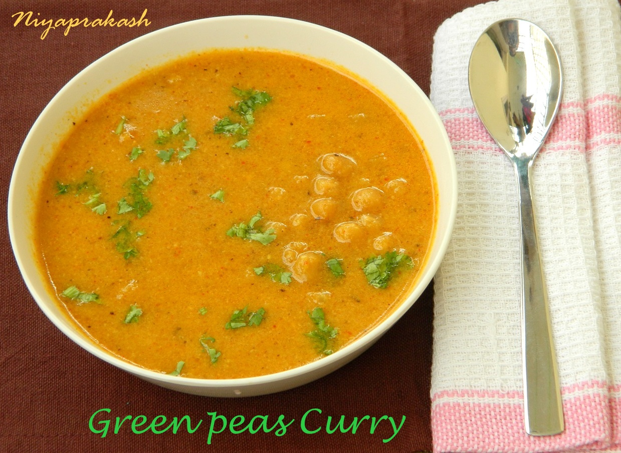 Niyas WorldGreen Peas Curry (with spicy coconut paste / masala)