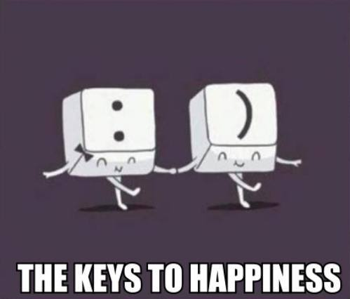 The key to happiness :)