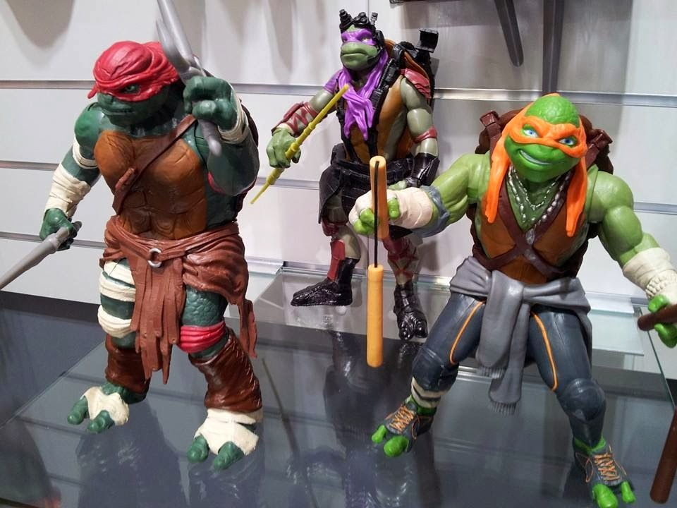 Ninja Turtles (2014) : Figurines du film Paramount  2014-figures