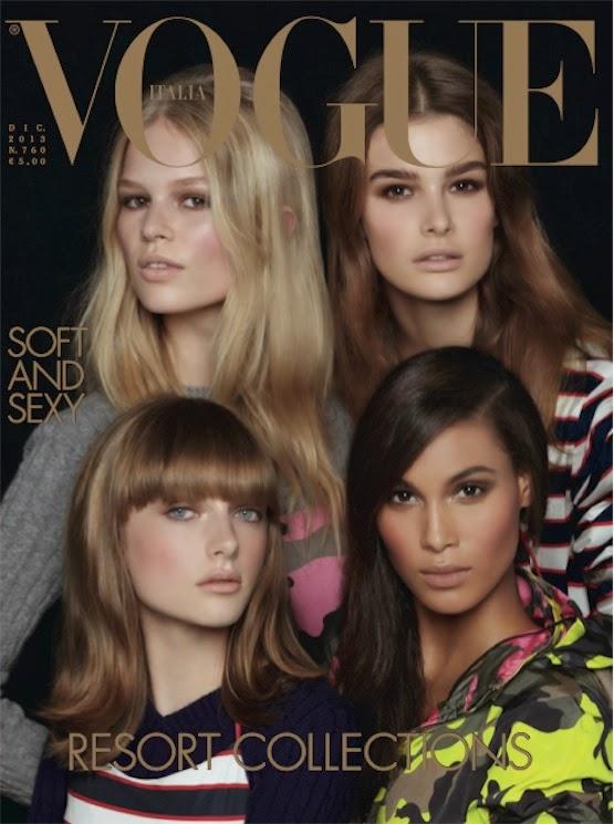 vogue italia december 2013 cover